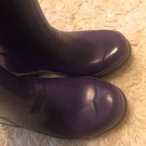 Hunter Boots, purple, size 2 EUC